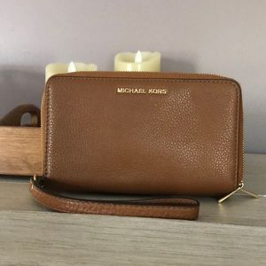 Michael Kors Wallet Full Size - Brown Leather